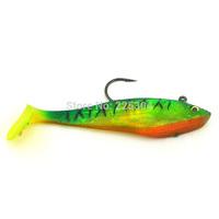"""Free Shipping 10Pcs  Lifelike Green Silicone Soft Fishing Lure Swimbait Bait, Bass Grouper Catfish Killer Bait 4.92""""/1.18oz"""