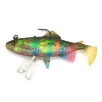 Free Shipping 15Pcs   Lifelike Colorful Silicone Soft Fishing Lure Swimbait Bait, Bass Grouper Catfish Killer Bait