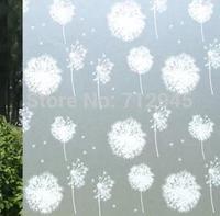 Free Shipping 5Pcs/Lot 90cm Long 50cm Wide Dandelion Entrance Living Room Bathroom Glass Decorative Window