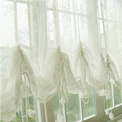 S V Mordern Christmas Window Curtains White Cortinas Sheer Tulle Short Dr
