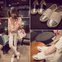 2014 New Fashion Women Flat Shoes Black White Moccasins Lady Loafers Sapatos Femininos Student Shoes Size 35-39
