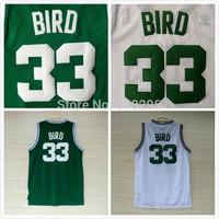 Kids Boston 33 Larry Bird Basketball Jersey Youth Shirt Cheap Mesh Basketball Jerseys Boys Boston Larry Bird Jerseys de Ninos