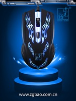 Free Shipping for the Nice and Cool glowing game dazzle light cable usb mouse  cf cs 3d wired mouse computer  Good QUALITY