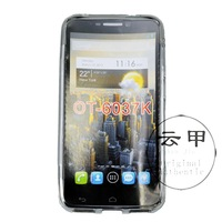 New 2014 items Free Shipping S LINE  TPU  Universal Case + Free Gift For Alcatel One Touch Idol 2 OT 6037K 6037B