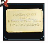 Free shipping Replica bar Titanic Gold Bar