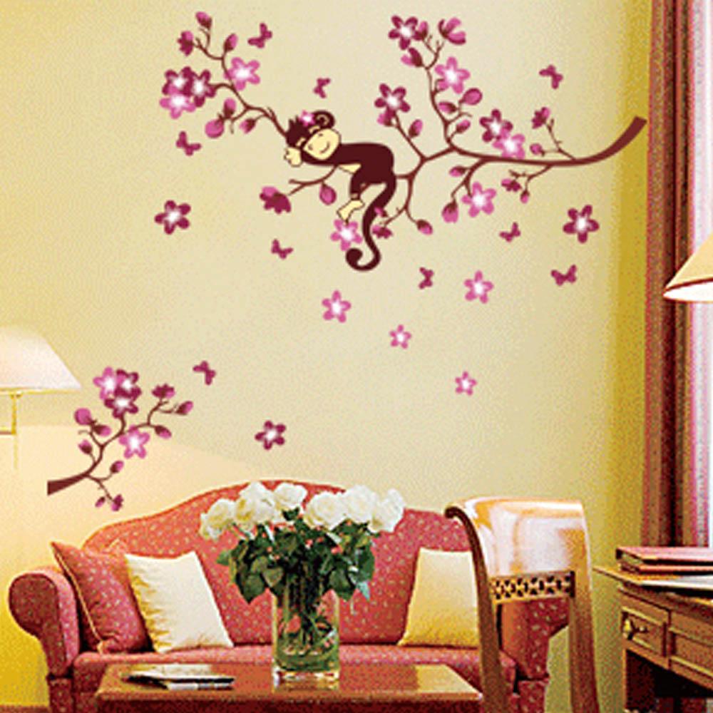 Peach blossom font b flowers b font monkey beautiful font b spring b