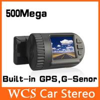 Free Shipping,1.5inch 1920X1080P Real Full HD Car DVr, With 500Mega +Built-in GPS,G-Senor,3.7V Polyer Battery HD Dash MIni Cam