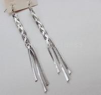 New Coming earrings for women Silver Long Tassel Drop Earring