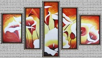 Oil Paintings Modern Abstract Flower Canvas Pictures Hand Painted Wall Art  Decor Art Free Shipping