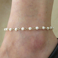 Hot Sexy Trend Fashion Handmade Pearl Anklet Foot Chain F009