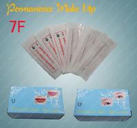 7F Eyebrow Lip Needles Sterilized Permanent Tattoo Makeup Machine Needles 7 Flat Needle 100 pcs/Box CN01