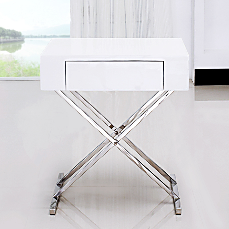 White Lacquer Bedside Cabinets Lacquer Bedside Cabinet