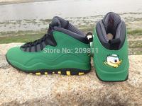 Oregon Ducks Shoe X Retro 10 J10 for men  duck Basketball shoes