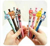 (8 pieces/lot ) New Cute Cartoon Ballpoint Pens Plastic Kawaii Ball Pen Stationery Wholesale School Supplies