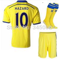 2014/2015 Chelsea away soccer jersey short sock 2015 Chelsea customize LAMPARD DAVID LUIZ OSCAR CAHILL HAZARD MATIC TORRES