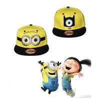Fashion Small Yellow People Embroidery Cartoon women's Baseball Cap Hip Hop Cute Men Snapback Hat Casual Snap Back Sport Caps