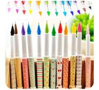 (12 pieces/lot)Gel Pen School Office Pen material escolar papelaria colorful pen Student School Supplies Stationery