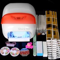 36W Pro Nails Auto-sensing Nail Dryer With Fan Manicure 4 Lamps Decorations Bush Tips Tools Set Kits