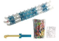 One Set New 2014 DIY Original Knitting Loom Kit Set-600 Colorized Bands,24 Clips,Loom Tool and Board Free Shipping