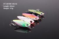 5 X Fishing Lures 4.2cm 4.5g VIB Lures Vibration Swimbait, Fishing Tackle