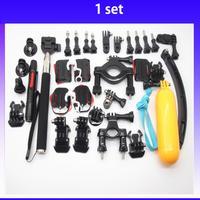 Wholesale 20sets Go Pro Accessories Set Tripod + Floating Handheld Monopod+ Mount + Buckle +Mount Adapter for Gopro Hero black