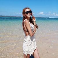 2014 best selling summer dress vestidos  horse holidaying sexy crochet tank dress vest shirt bikini outside shirt