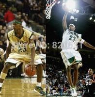LeBron James IRISH 23 Basketball Jerseys High school White Green Golden Throwback Mesh Embroidery IRISH LeBron James Jersey