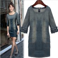 Autumn group of high-quality  Star Brand Denim Dress  Large size denim DRESS