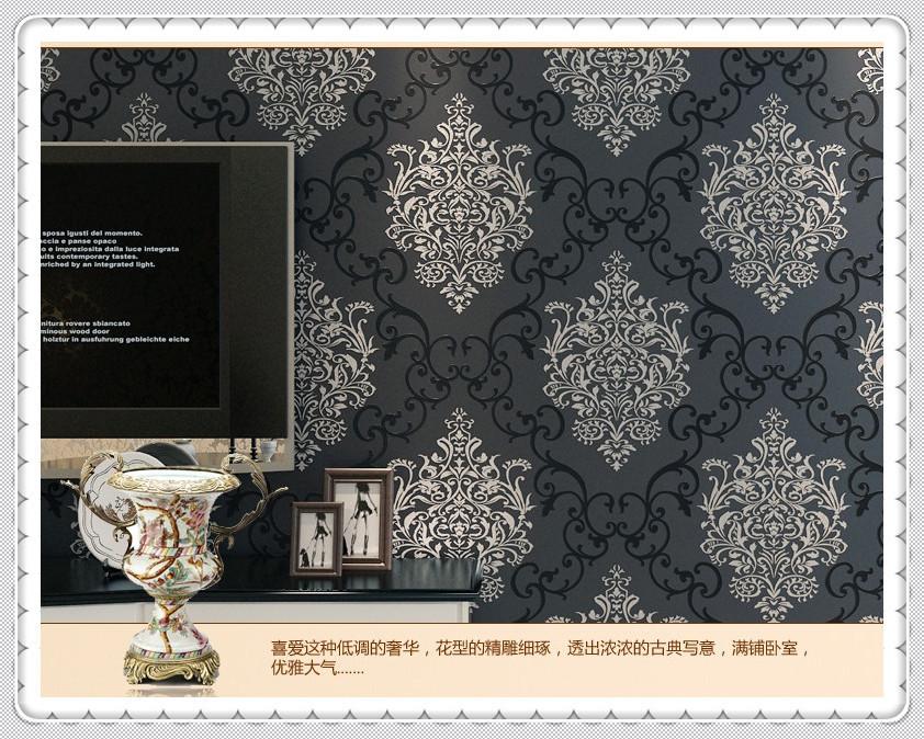 Hot Sale Wq breve n?o-tecido de fundo papel de parede tv listra vertical gem papel azul Parede(China (Mainland))