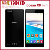 Original Iocean X8 Mini MTK6582 1.3GHz Quad core Cell Phones Android 4.4 5'' 1G+32G ROM 1280P 8MP Gorilla III OGS Screen Mobile