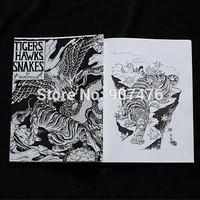 A4 size tattoo manuscripts sketch books magzines for tattoo suppliers