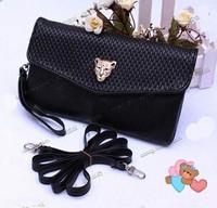 3 color 1pc/lot Hot 2014 New Fashion Women's Handbags Punk One Shoulder Handbag Cross-Body Bag Long Design Mobile Bags Clutch