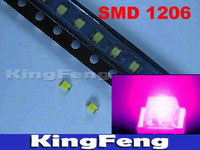 Free shipping (3000 pieces/lot) SMD 1206 Pink LED Super Bright  SMD LED LAMP
