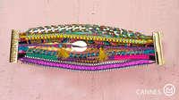 Free Shipping 2014 New Euramerican Bohemia Wrap Hipanema Handwork Weaving Charm Bracelets Bangles Multicolor Bracelet Jewelry 08