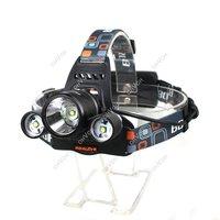 5000Lumen CREE XM-L XML 3 x T6 LED Headlight Headlamp Head Lamp Flashlight Dropshipping S5K