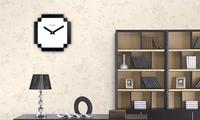 Free shipping 1Piece 8 bit PIXEL Wall Clock / 80s retro time pixel novelty clock--Back on 80s / wall alarm clock
