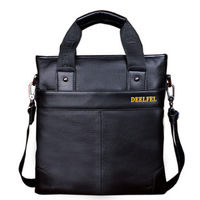Men's leather handbag shoulder bag man bag man bag leather bag Messenger Bag Business 27*7.5*28 GB168 Y5P