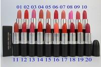 20pcs/lot wholesale quality brand MC Makeup  lipstick matte English name different Colors 3G M-C Pumpkin (Satin Nude Lipstick )