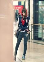 The new woman's A alphabet leisure sport Korean baseball jacket  WO908