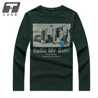 Tomyjons T-shirt male long-sleeve t-shirt t male long-sleeve men's clothing 100% cotton t-shirt