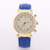 Hot- Newest Popular Fashion Women Rose Gold Watches Women Leather Strap Leather Watches Quartz Watches