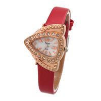 Vintage Watches Brand New Fashion 2014 Women Dress Watch Retro Analog Triangle Wristwatches Reloj Mujer women Rhinestone watch