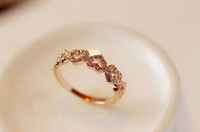 Simple fashion all-match full drill five loving hearts women's ring Fashion Rings