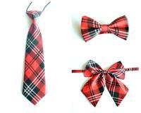 Red Scottish Children School Student Dance Party Neck tie bow tie Butterfly Cravat bow piece set
