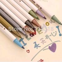 Wholesale,(1 Lot =10 Pcs Different Colors) DIY Wedding Photo Albums Color Pens Diary Decorative Water Chalk Pen Markers Pen