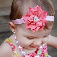 Handmade Baby Flowers Headband Hair Accessories Headwear Hair Band ELastic Ribbon Princess Style Head Acessorios Para Cabelo