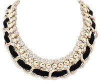 Europe and the United States joker interlocking diamond necklace+ Free shipping#108977