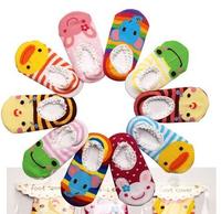 Free shipping Baby Lace Floor Cartoon boat socks Air conditioning Non-slip socks Baby boy Baby girl 1pair