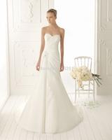 New Model High Quality Elegant Sheath White/Ivory Women Sweetheart Satin Long Wedding Dresses Bridal Gowns 2014
