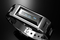 Hot !2014 New Arrival!! Silicon Vibrating Bluetooth Bracelet smart watch with OLED caller ID display for bluetooth mobile phone